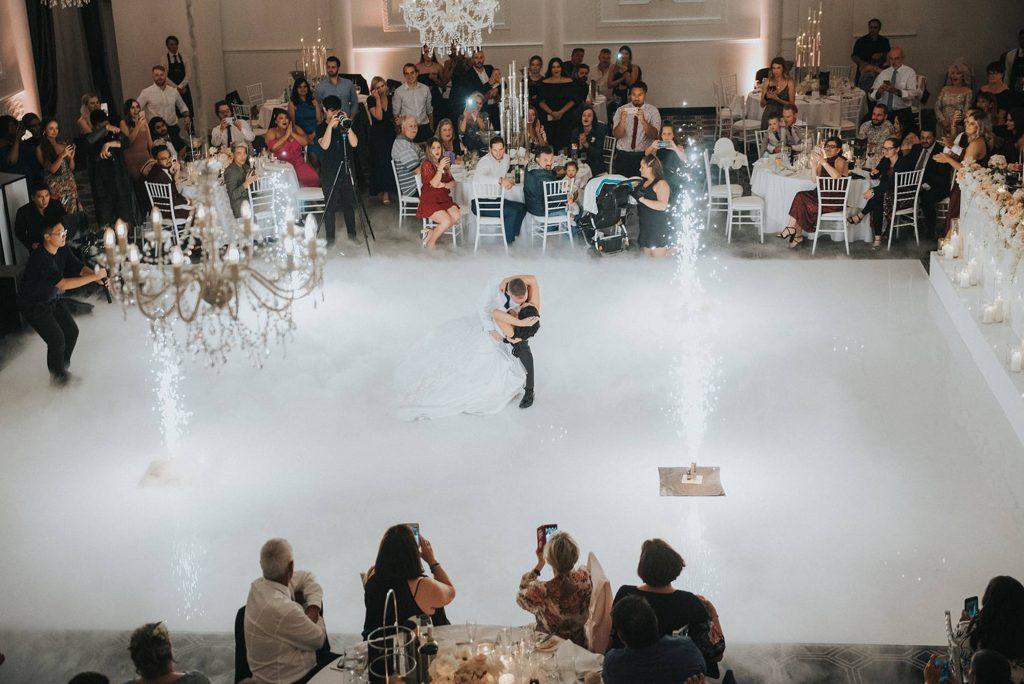 couple on dance floor dancing
