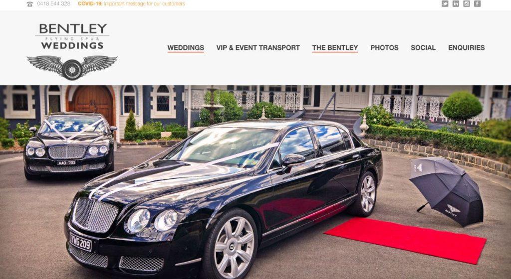Melbourne stylish Wedding Limousines