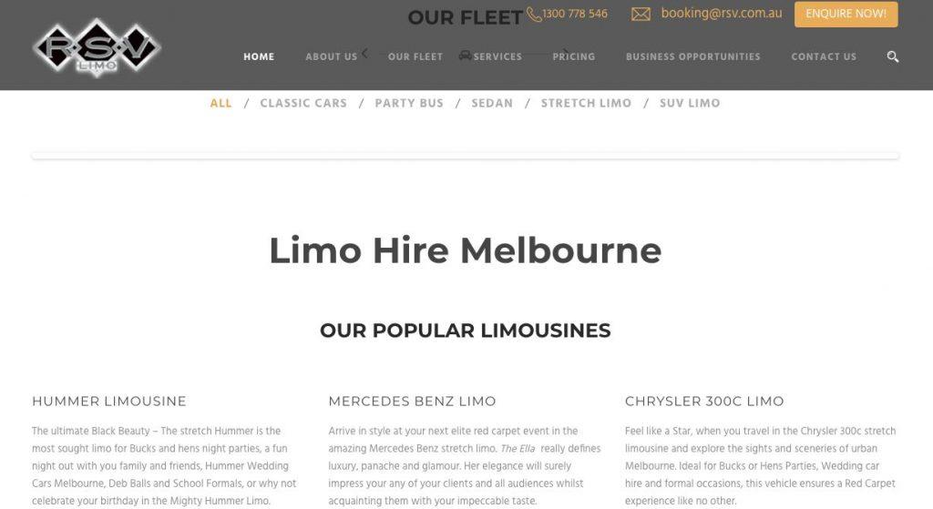 wedding Luxury Car hire Melbourne