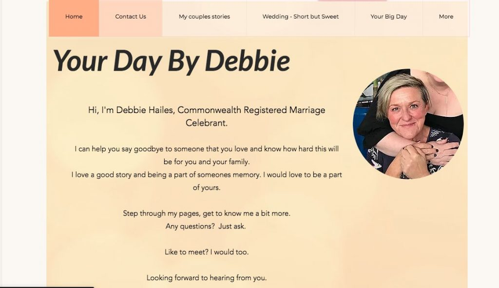 Marriage wedding specialist celebrant