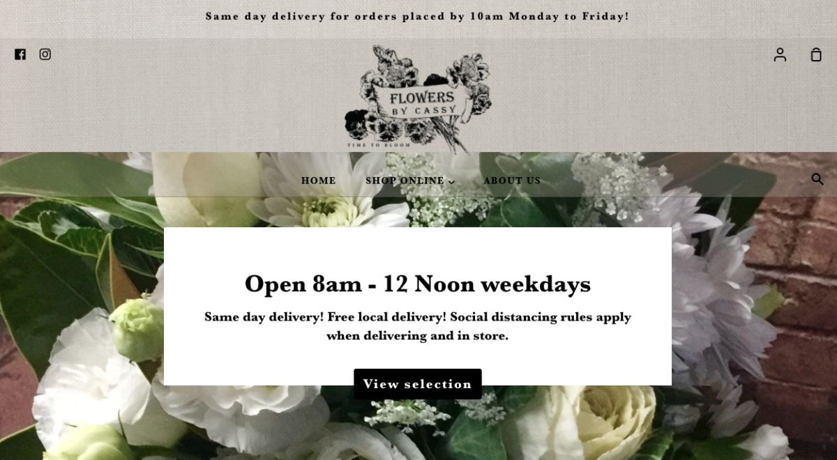 online wedding florist