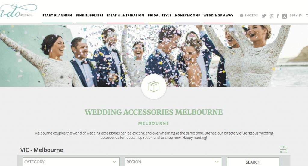 Wedding Melbourne Accessories