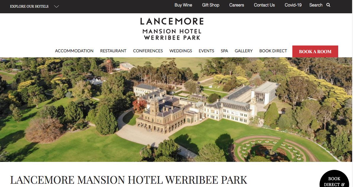 Lancemore Mansion Hotel and Accommodation Burwood Melbourne
