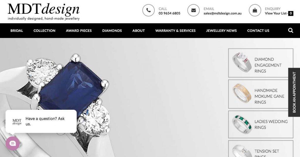 wedding jewellery shop
