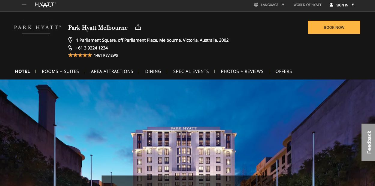 Park Hyatt Accommodation and Hotel Burwood Melbourne