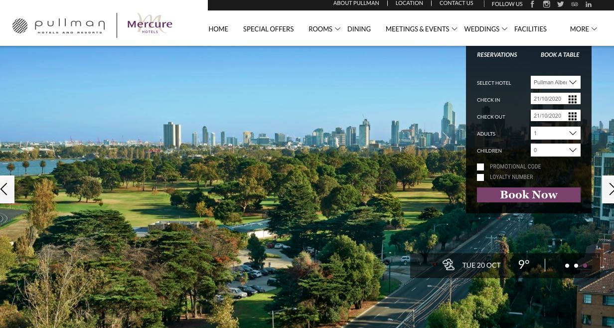 Pullman Hotels and Accommodation Burwood Melbourne