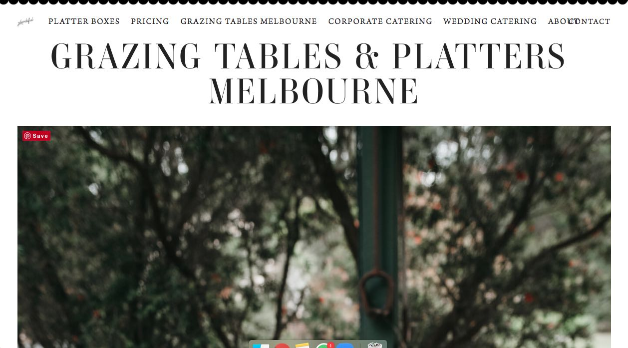 Plentiful Catering Glazing Table Melbourne