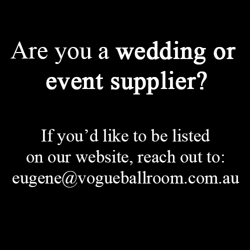 wedding suppliers in melbourne, victoria