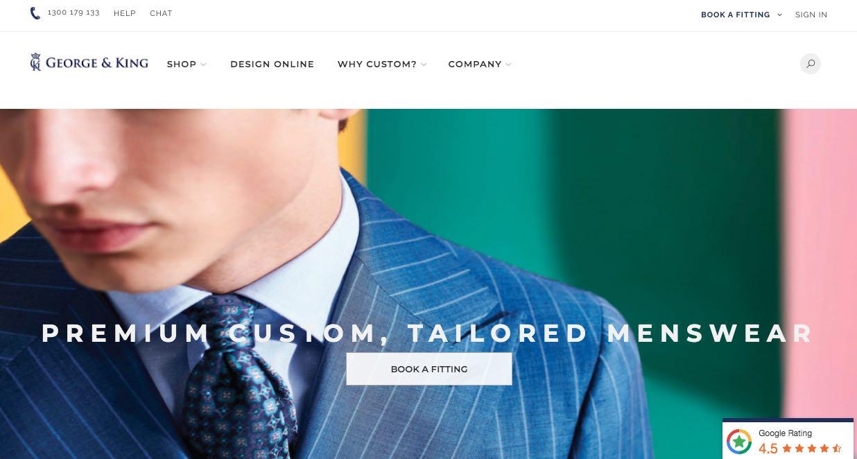 George & King Suit Tailors Melbourne