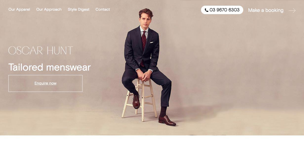 Oscar Hunt Suit Tailor Melbourne