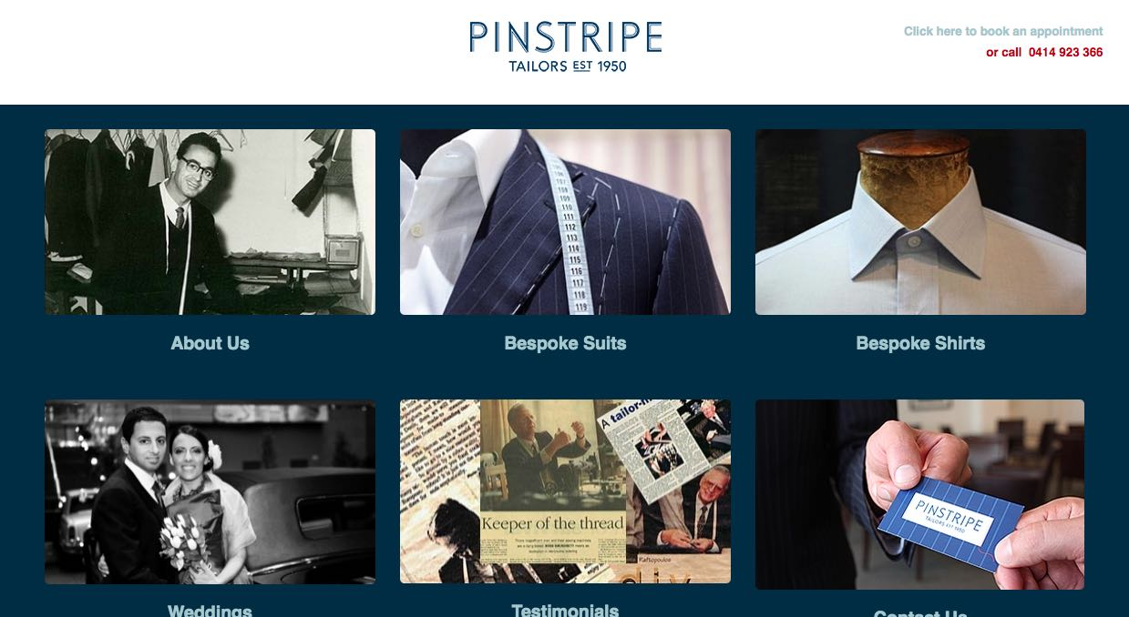 Pinstripe Suit Tailors Melbourne