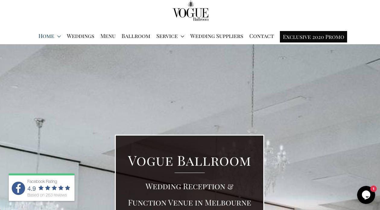 Vogue Ballroom Engagement Party Venue Melbourne
