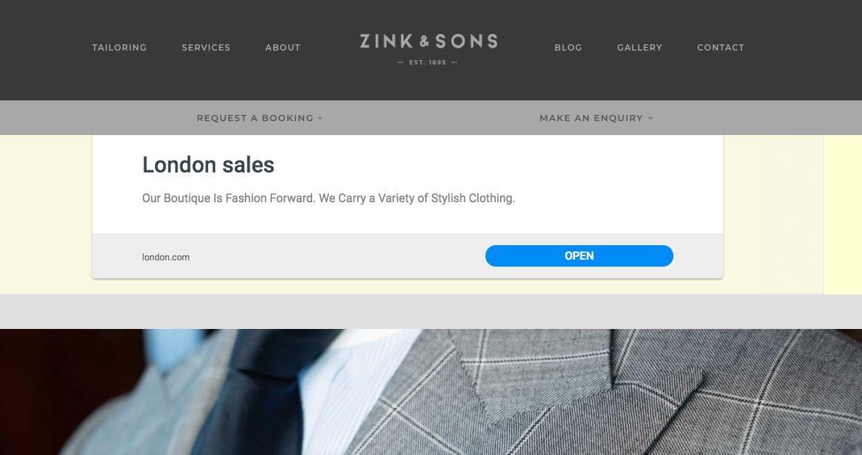 Zink & Sons Suit Tailors Melbourne