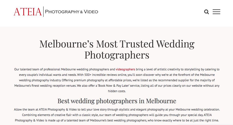 ATEIA Wedding Photography Yarra Valley