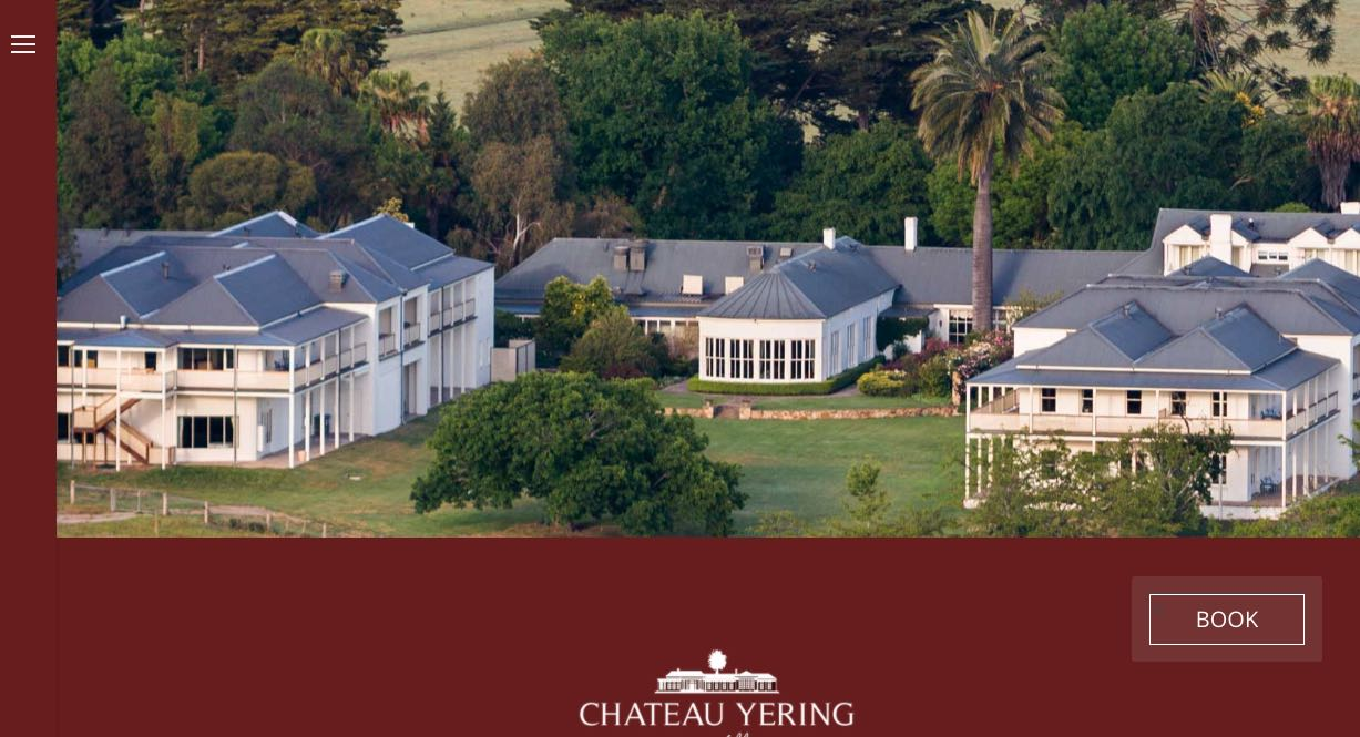 Chateau Yering Historic House Hotel - Wedding Reception Venue Yarra Valley