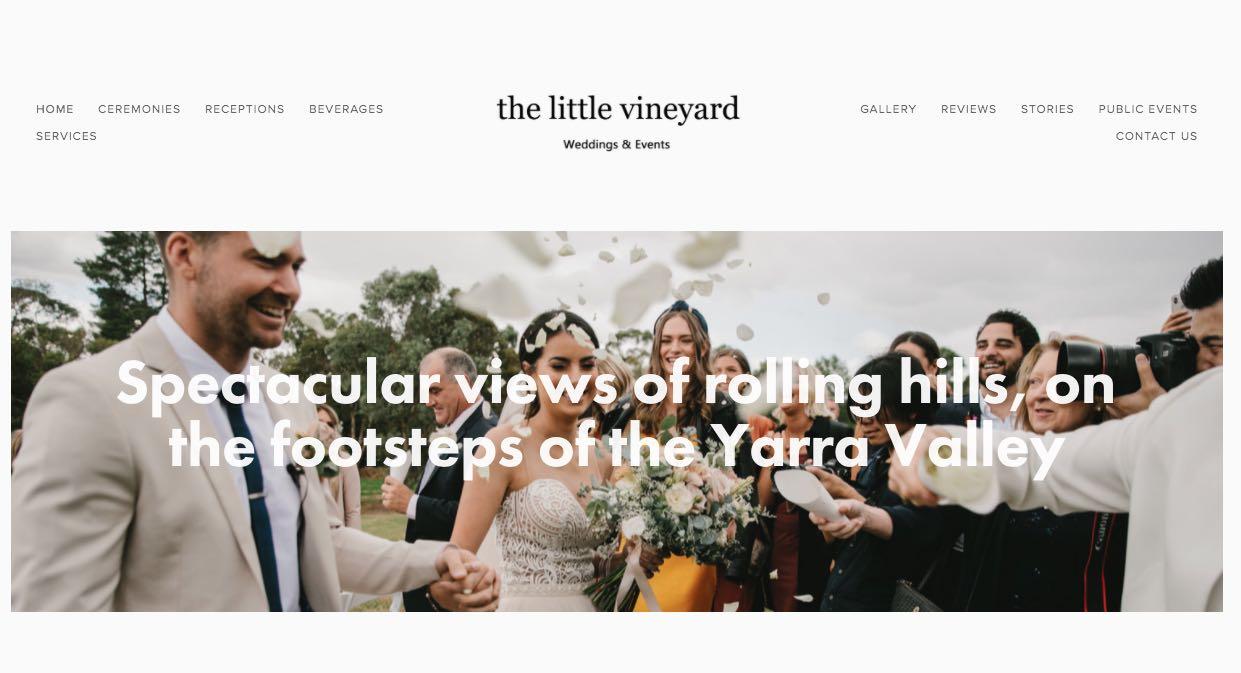 The Little Vineyard - Wedding Reception Venue Yarra Valley
