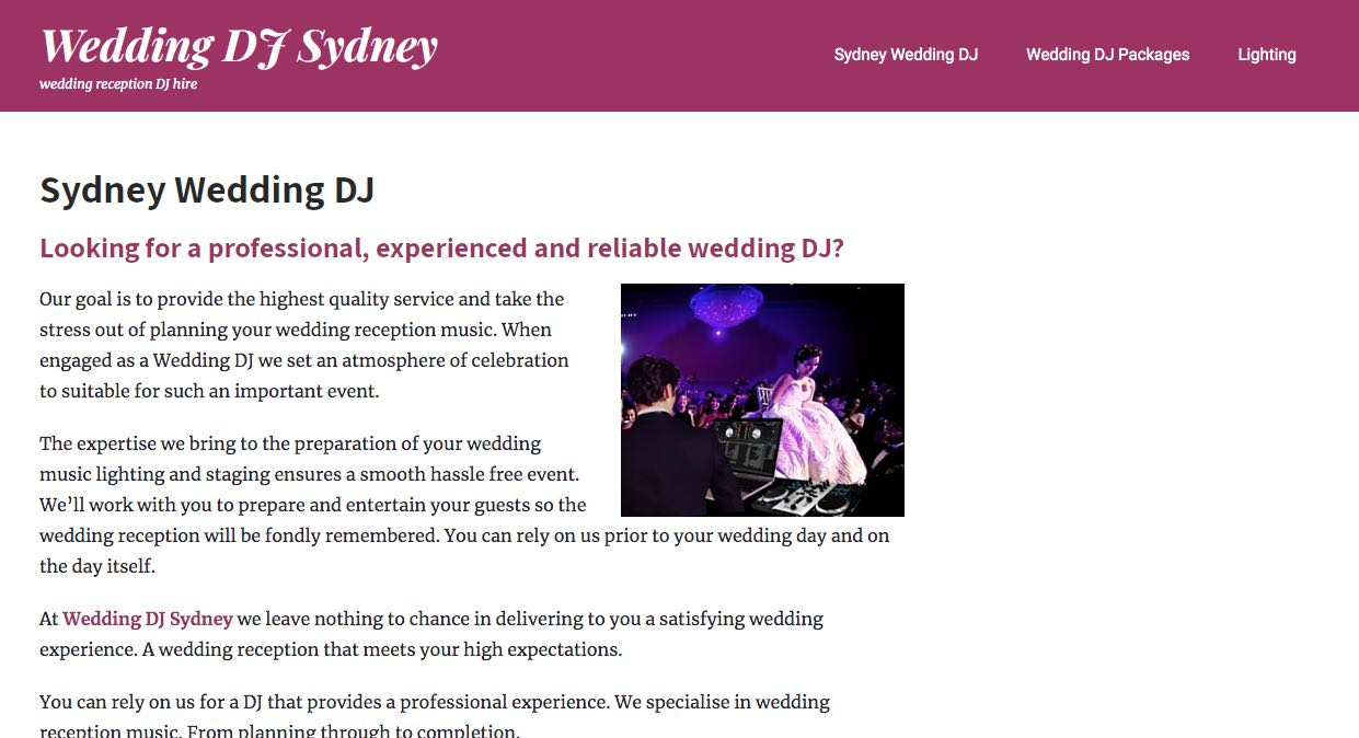 Wedding DJ Sydney