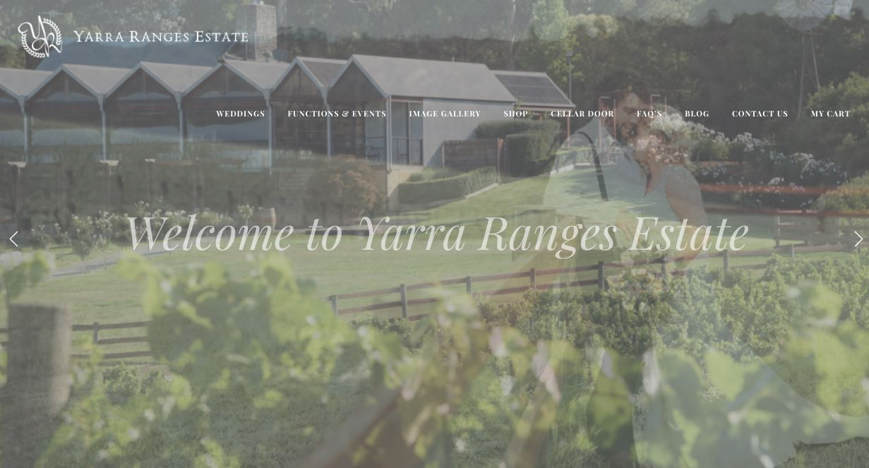 Yarra Range Estate Wedding Reception Venue Yarra Valley