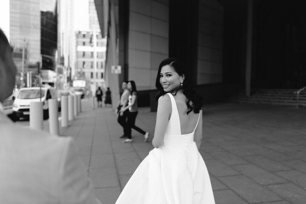 melbourne cbd wedding photo