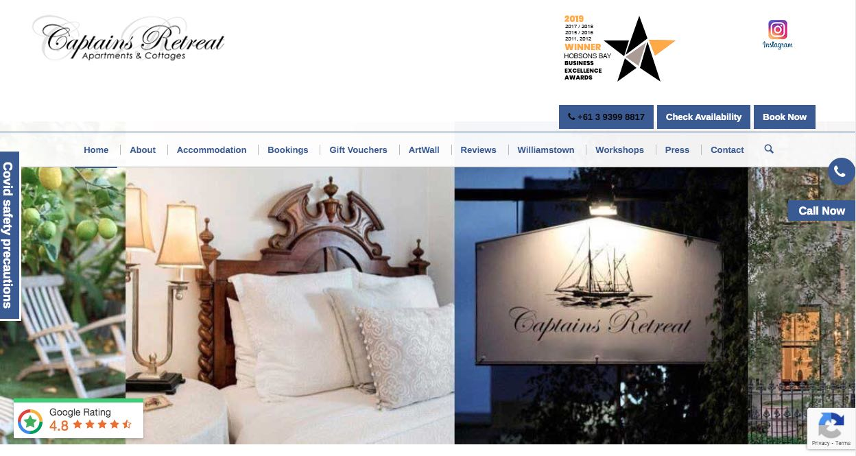 Captains Retreat Accommodation and Hotel Burwood Melbourne