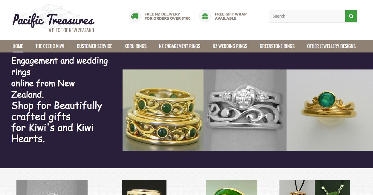 Pacific Treasures Wedding and Engagement Rings New Zealand