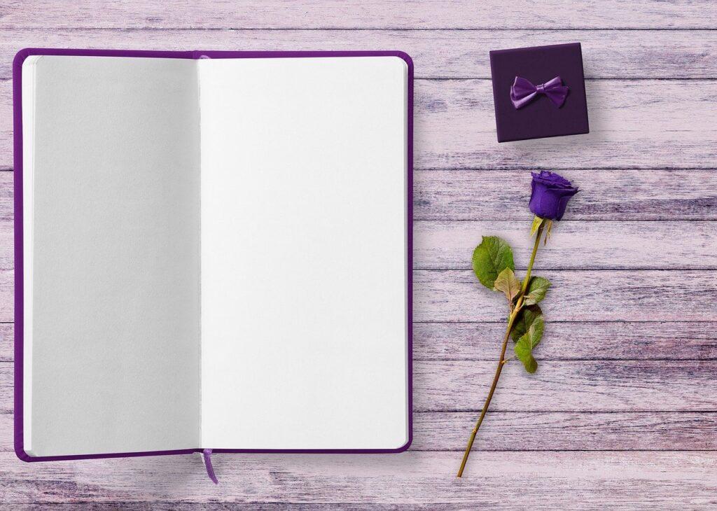 book-rose-violet